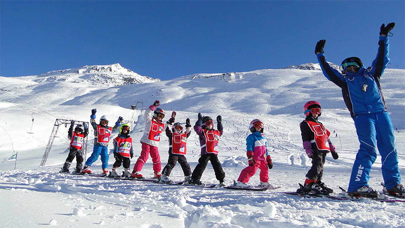 Children Skiing School